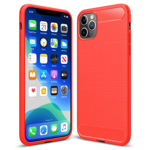 Flexi Slim Carbon Fibre Case - Apple iPhone 11 Pro Max - Brushed Red